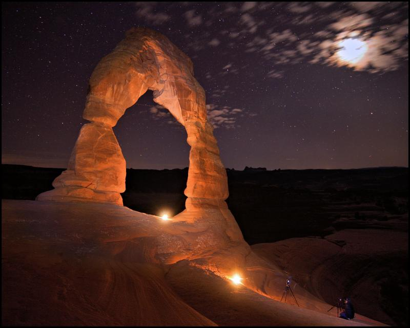 Light-Painting Delicate Arch, Arches National Park