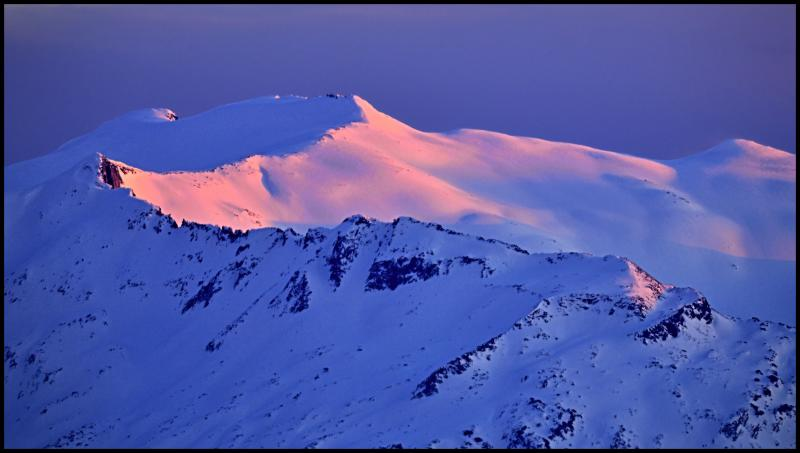 Mount Hinman at Sunset