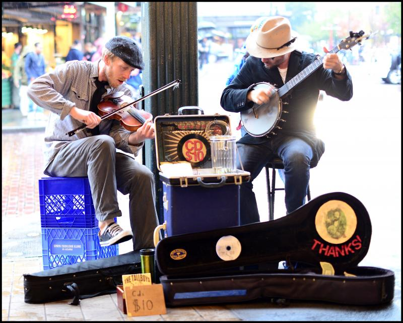 Buskers in Pike Place Market